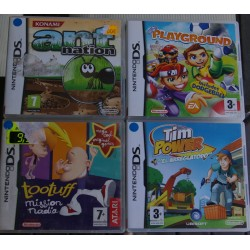 LOTE DE 4JUEGOS DS : ANT NATION, TOOTUFF, TIMPOWER, EA PLAYGROUND