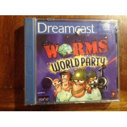 WORMS WORLD PARTY DREAMCAST - Usado, con manual. Caja rota