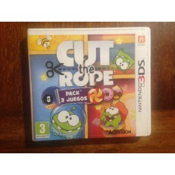 CUT THE ROPE PACK 3 JUEGOS - Nintendo 3DS - Usado