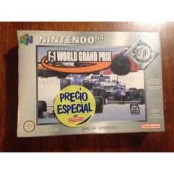 F-1 WORLD GRAND PRIX NINTENDO 64 - Usado, completo