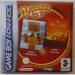 DISNEY EL REY LEON Y HERMANO OSO GAME BOY ADVANCE - Nuevo