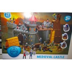 MEDIEVAL CASTLE (70x50cm) 70 PIEZAS TIPO PLAYMOBIL
