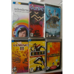 LOTE 6 JUEGOS PSP : LUMINES, LUMINES 2, EXIT, GUNPEY, ECHOCHROME, LA BRUJULA DORADA