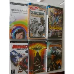 LOTE 6 JUEGOS PSP : FADING SHADOWS, BURNOUT DOMINATOR, MYTRAN WARS, SOCOM,DARKSTALKERS, ECHOCHROME,