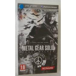 METAL GEAR SOLID : PEACE WALKER PSP - Usado,con manual