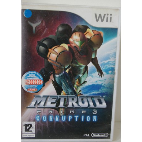 METROID PRIME 3 : CORRUPTION NINTENDO Wii - Usado, con manual