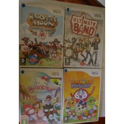 LOTE 4 JUEGOS Wii : HARVEST MOON, HELLO KITTY, TAMAGOTCHI, ULTIMATE BAND - Nuevos